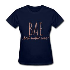 PINK GLITZ PRINT! BAE Best Auntie Ever, Women's T-Shirt