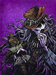 Purple Leopard Boutique - Voodoo Priest by David Lozeau Tattoo Canvas Giclee Black Magic Skull Doctor, $65.00 (http://www.purpleleopardboutique.com/voodoo-priest-by-david-lozeau-tattoo-canvas-giclee-black-magic-skull-doctor/)