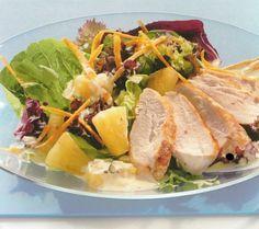 La dieta ALEA -  blog de nutrición y dietética, trucos para adelgazar, recetas para adelgazar: Ensalada de piña y pollo a la brasa con salsa de y...