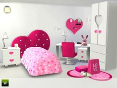 Femina room at Little Sims Stuff via Sims 4 Updates