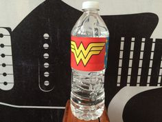 Custom Wonder Woman Themed Water Bottle Labels - INSTANT DOWNLOAD! Perfect for Superhero Birthday Parties! Matching Invitation Available!