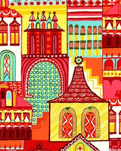 Zhivago - Village - Quilt Fabrics from www.eQuilter.com