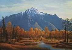 Alaskan Mountains Fall Landscape Limited by RubyChicOriginals, $74.00
