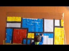 Mini Matisse: Stop Motion with Kindergarten- Mondrian Inspired