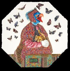 Raqib Shaw - Born 1974 in Kashmir, Raqib Shaw left India in 1998 for London where he studied for both his BA and MA at Central St Martins School of Art. Shaw has exhib. Online Art Sites, Raqib Shaw, Detailed Paintings, Online Friends, Wassily Kandinsky, Bird Art, Contemporary Paintings, Art World, Art School