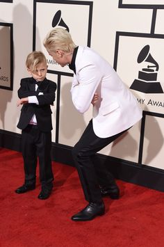 Justin Bieber Brought His Little Brother to the Grammys