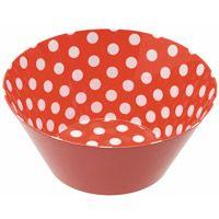 Retro Red Polka Dot Bowl