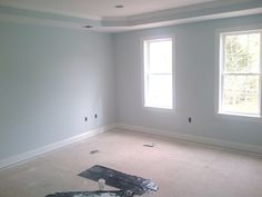 Benjamin Moore Glass Slipper New House Playroom Paint Blue Paint Colors, Interior Paint Colors, Paint Colors For Home, Wall Colors, Room Interior, Interior Design, Glass Slipper Benjamin Moore, Benjamin Moore Bedroom, Tranquil Bathroom
