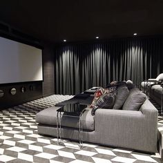 Is this not one of the most elegant home cinema rooms you have ever seen! Thanks @gregnatale for the images! Love this Brisbane house. #youdontevenwanttoknowthefurniturebudgetonthisproject