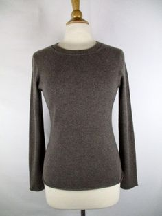 da7892010f8 Banana Republic Women s 100% Italian Cashmere Brown Cashmere Sweater M  Medium  BananaRepublic  ScoopNeck
