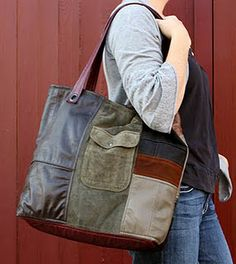 Upcycled Leather Bags by Uptown Redesigns