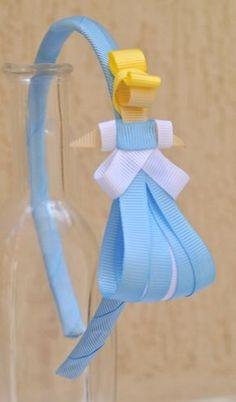 tiara da Cinderela esculturas feitas com fitas de gorgorão à mão. **ARCO DE TAMANHO ÚNICO - 39CM DE PONTA A PONTA R$ 27,50