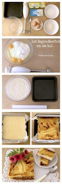 una tarta de queso