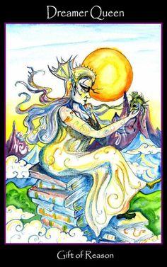 Queen of Swords - Tarot of the Sidhe
