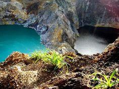 Volcán Kelimutu en Indonesia