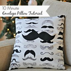 10 Minute Envelope Pillow Tutorial.  Seriously.  A pillow cover in under 10 minutes.  Great way to save $!