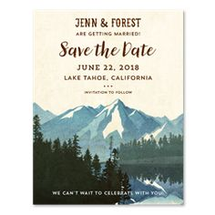 Image result for camping mountains save the date