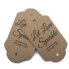 Sparkler gift tags wedding sparklers let love sparkle tags