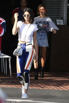 Keep up with Kendall in biker pants from Unravel. Click 'Visit' to buy now. #DailyMail