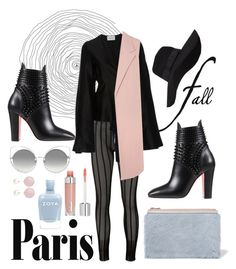 """""""Black & Pastel"""" by gisellefree ❤ liked on Polyvore featuring Christian Louboutin, Proenza Schouler, Issey Miyake, Marc Jacobs, Beaufille, Thomas Sabo, Iris & Ink, San Diego Hat Co. and Zoya"""