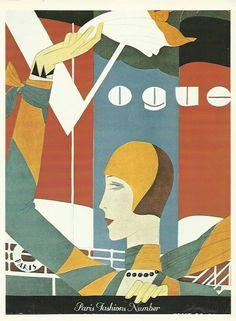 Vogue magazine cover 1927 Paris Fashion Illustration Vogue Poster Art Deco Home Decor Print Fine Art by OLDBOOKSMAPSPRINTS on Etsy