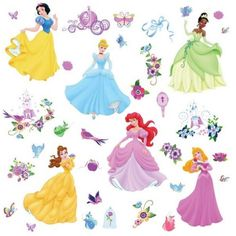 disney princesses wall stickers games style quote this house rules vinyl art sticker