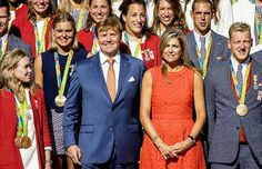 Queen Maxima and King Willem-Alexander met with the Olympic medal winners