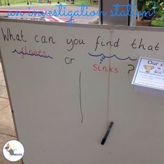 Our investigation station. We add different challenges for the children to investigate outdoors. Eyfs Outdoor Area, Outdoor Areas, Outdoor Play, Eyfs Classroom, Outdoor Classroom, Classroom Ideas, Investigation Area, Investigations, Nursery Activities
