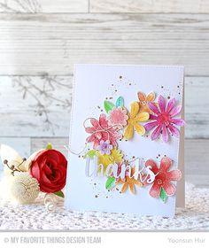 RejoicingCrafts: MFT August Sensational Stitched Flowers Card Kit. #mftstamps…
