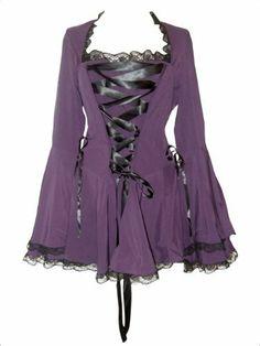 Gothic/Vampir Korsett Bluse mit Glockenärmeln. Größen 36-58 DangerousFX, http://www.amazon.de/dp/B009NQPT3U/ref=cm_sw_r_pi_dp_TJ3btb0Q03D4Y
