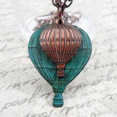 Hot Air Balloon Necklace - stunning