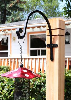 This is the most incredibly strong hook for the heaviest doodads! Outdoor Gardens, Indoor Outdoor, Outdoor Decor, Wind Spinners, Flower Basket, Hanging Plants, Plant Decor, Bird Feeders, Wind Chimes