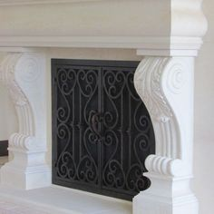 Image Result For Iron Fireplace Doors