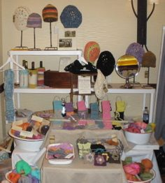Craft Fair Display Ideas - love the different levels