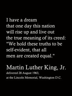 I Have a Dream MLK Jr. Quote FIller Card