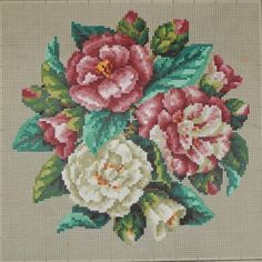Antique Berlin Woolwork hand-painted chart 19th century Sajou in Paris | eBay