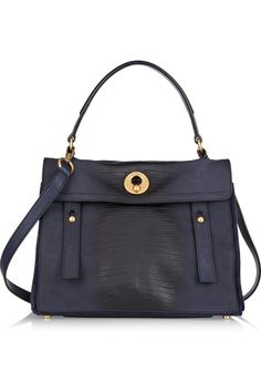 £1485 #Yves Saint Laurent | Muse Two Medium leather and suede tote  | NET-A-PORTER.COM
