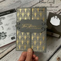 Wedding Anniversary Cards, Wedding Cards, Shaped Cards, Grey And Gold, One Design, Stamping Up, Creative Cards, Stampin Up Cards, Designer