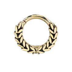 Septum ring by BVLA based off the classic Greek ring of laurel.