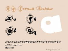 DJ Football Regular Macromedia Fontographer 4.1.5 10/7/02 Font Sample
