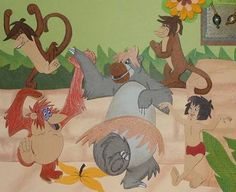Adorable Jungle Book premade pages!