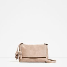 SPLIT-SUEDE CROSSBODY BAG WITH TASSELS - Available in more colours