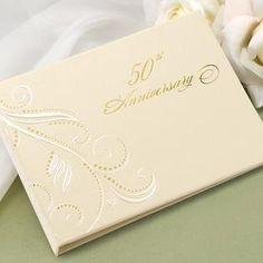 Hortense Hewitt Hortense b Hewitt 20613P 50th Anniversary Swirl Dots Guest Book personalized