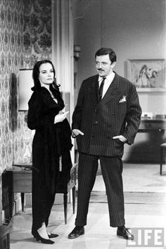They're creepy and they're kooky: Audition photos for 'The Addams Family,' 1964 The Addams Family 1964, Addams Family Tv Show, Adams Family, Morticia Adams, Gomez And Morticia, John Astin, Edna Mode, Carolyn Jones, Julie Newmar