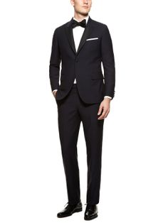 Navy Slim Fit Peak Lapel Chelsea Tuxedo by Martin Greenfield at Gilt