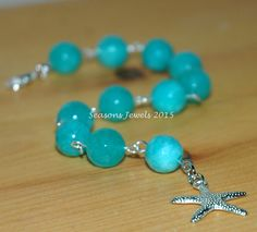 Turquoise Starfish bracelet by SeasonsJewels on Etsy