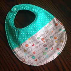 Baby Girl Teething Bib by HuckababyBoutique on Etsy, $7.00