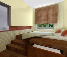 идеи кровать-подиум - Поиск в Google