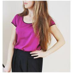 Smart Set (M) | Mlle Frivole Smart Set, Mauve, T Shirt, V Neck, Boutique, Women, Fashion, Pretty, Fabric