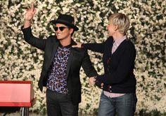Bruno Mars and Ellen